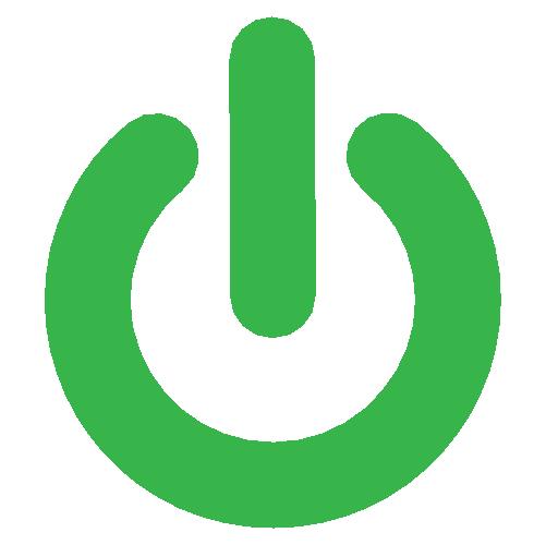 Decorative Greenworks 'on button' icon