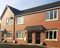 Front of houses on our Beech Avenue development in Farnworth